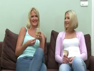 fake agent gangbang with blond cuties