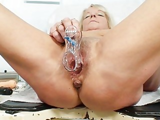 hawt golden-haired granny doxy receives her hairy