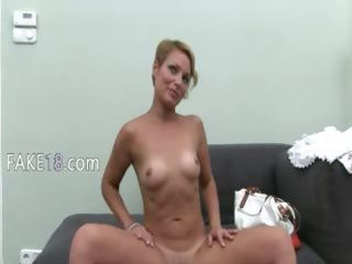 hawt woman stripping with toy on bed