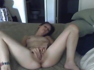 concupiscent college angel plays with her bawdy