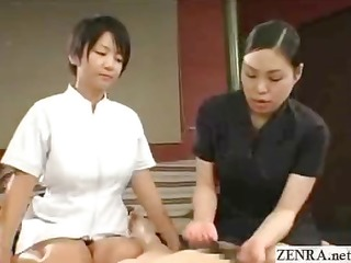japanese trainee taught art of flawless cfnm