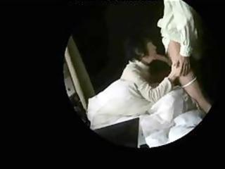 granny non-professional pair caught having sex on