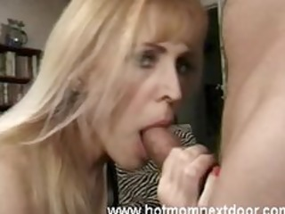 golden-haired cougar takes jizz flow