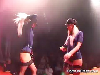 porn on stage lesbo stripper