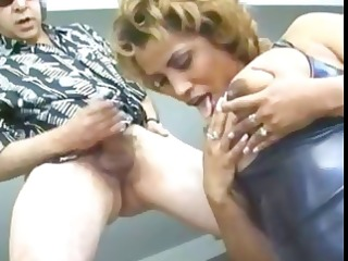 sexy swarthy chick kira licks her teats and