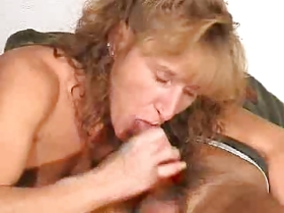 aged gives a blow job with ejaculation in face