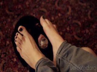foot domination humiliation - engulfing vibrator