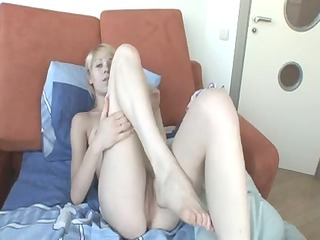 alice alone with her fake cock