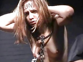 slender obedient whore disciplined and tortured