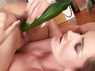 sandra shine and vivian use a cucumber to acquire