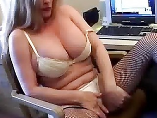 breasty cougar feels sexually excited