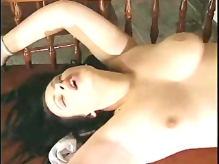 fat darksome haired getting nailed