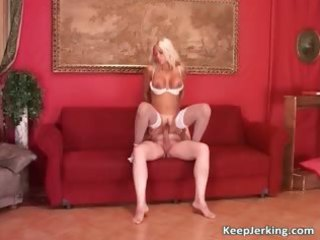 sexy blond whore with large scones blows part4