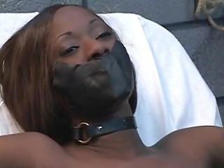 dark gal with hard nipples receive a hard torment