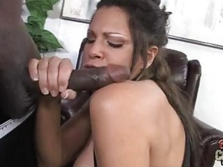 desirable dark brown with big muffins sucks large