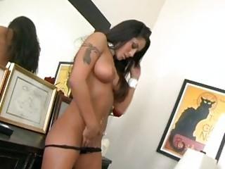 beautiful brunette hair jenaveve jolie is doggie