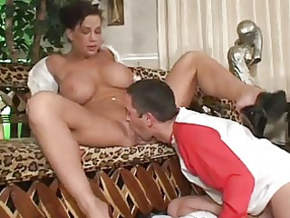 hawt fuck and facial in white blouse