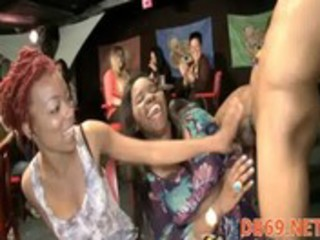 woman copulates a stripper in front of her