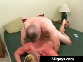 excited homosexual males have a fun engulfing