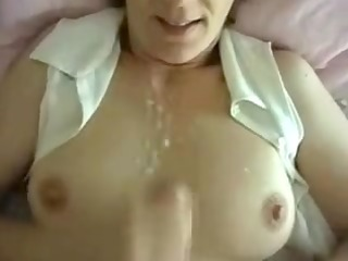 sexually excited wife intimate spunk flow on