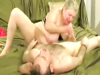 doxy granny enjoys with younger man.