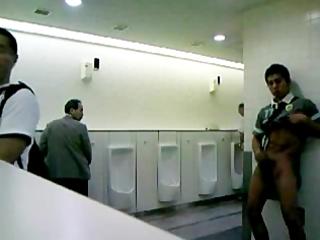 oriental chap jack off in public