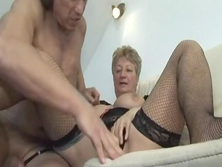 blond shorthair large nice-looking woman-granny