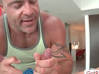 lad acquires pounder oiled for massage part7