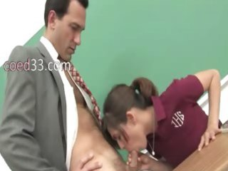 great blow job fucking with youthful student