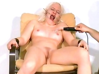bizarre facial electro castigation of blond
