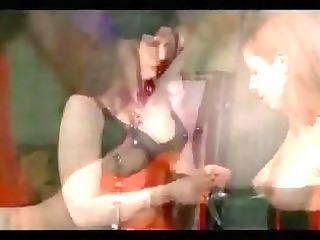 lesbo latex stocking electro play