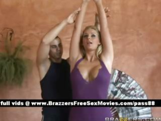 beautiful blond cutie does yoga