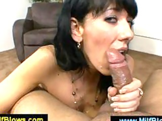 sexy mamma caressing a schlong with her pointer