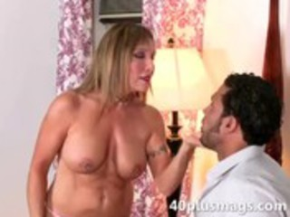 naughty divorcee engulfing large darksome penis