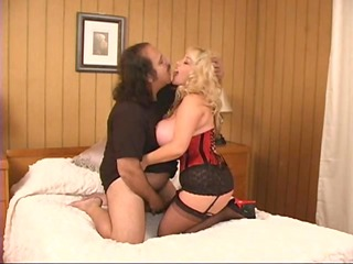 ron jeremy makes love to a aged buxom woman - pt.
