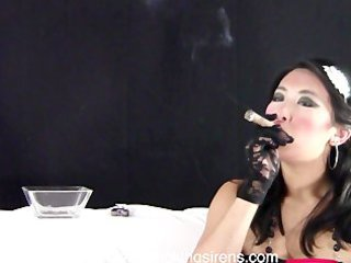 tanya red and darksome gown cigar example movie