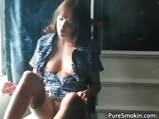 aamazing redhead is smokin and showing part11