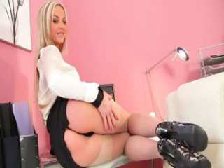 breasty blond doxy disrobe just for