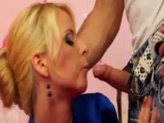 nice-looking chick sucks jock and usese toy on