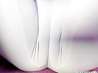 large cameltoe, large boobs, doing hawt yoga in