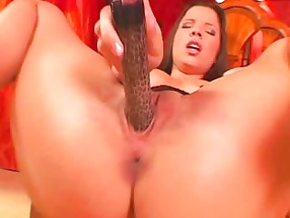 honey in belts masturbates with toys