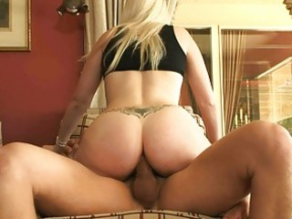 pale tattooed golden-haired with sexy a-hole