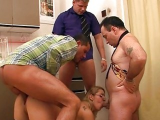 secretary expiriencing three-some at the office