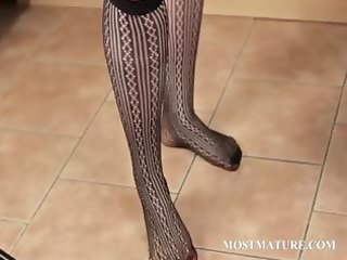 big beautiful woman older teases her hot assets