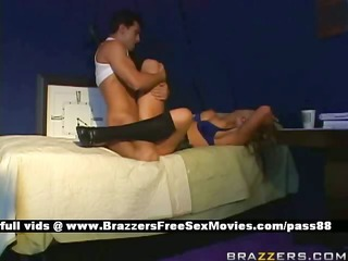 aged breasty blond whore in couch at a casting