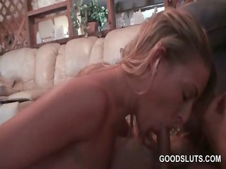 hawt blond receives peachy love tunnel screwed at