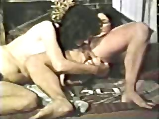 classic porn with those lesbos toying trio bushy