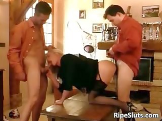 sexy older blond acquires double drilled part1