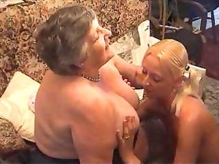 grandma eats a enchanting lesbi gal