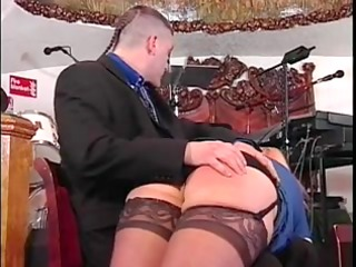 doxy in stockings gets booty spanked
